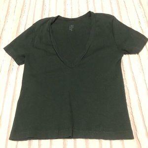 Brandy Melville - Forest Green V-neck